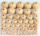 100pcs 6~20mm Natural Wood Round Wooden Loose Spacer Beads Diy Jewelry Making