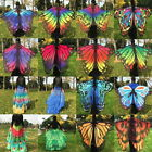 Fashion Ladies Women Colorful Long Neck Butterfly Wing Cape Stylish Soft Scarf A
