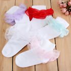 Baby Kids Girls Toddlers Solid Lace Combed Cotton Breathable Socks Hosiery