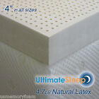 NEW 4 Inch 100% Natural Latex Mattress Pad Topper - FULL ...