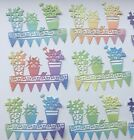 Window Box Bunting Die Cuts - Assorted Colours in sets of 10
