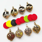 1Set Cage Locket Perfume Essential Oil Aromatherapy Diffuser Charms Pendant