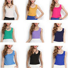 Casual Women Vest Summer Loose Chiffon Sleeveless Tank T-Shirt Top Blouse