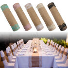 9.2ft 280x30cm Vintage Burlap Lace Jute Hessian Table Runner Wedding Decor