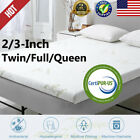 2/ 3-Inch Comfort Gel Infused Memory Foam Mattress Queen/Twin/Full Bamboo Cover image