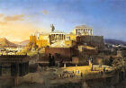 Classic historical art print:  Acropolis of Athens