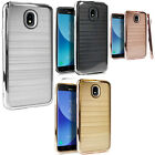 For Samsung Galaxy Amp Prime Hard Gel Rubber KICKSTAND Case Cover +Screen Guard