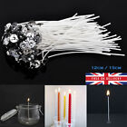 20 - 100 Pcs Pre Waxed Wicks For Candle Making With Sustainers Cotton Coreless