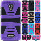 For Alcatel OneTouch Allura Hard Gel Rubber KICKSTAND Case Phone Protector Cover