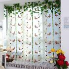 Romantic Butterfly Floral Embroidered Door Window Roma Lifting Tulle Curtain