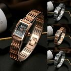 Hot Elegant Women Lady Girl Square Dial Watch Analog Quartz Number Wristwatch
