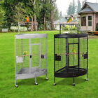 """59"""" Large Corner Parrot Bird Cage PlayTop Stand Finch Macaws"""