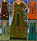 ANGELA NEW Handmade Women Long Maxi Dress Boho Hippie Summer Size M - XXXL Plus