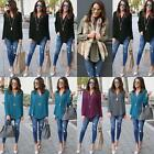 Long Sleeve T-Shirt Casual Blouse Fashion New Women V-neck Plus  Size Tops Loose