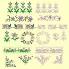Lovely Lilies Machine Embroidery & Redwork CD- 26 Designs- By Anemone Embroidery