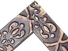 """1 1/2"""" BROWN EMBOSSED TRIBAL Disstressed Wood Picture Poster Frame-Custom Square"""