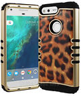 Hybrid Shockproof Armor Case Gold Brown Leopard Cheetah Print For Cell Phones