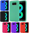 For Samsung Galaxy S8 / S8 PLUS Rugged Rubber SILICONE Soft Gel Skin Case Cover