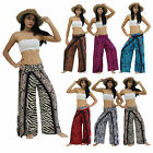 Pants PFD77-82 Thai Wing Lagenlook Harem Genie Aladdin Rayon Casual Beach Women