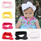 Baby Bow Solid Headband Head Wrap Kids Girls Hair Band Ribbon Accessory Pink