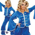 Adults Dancing Queen Complete 70s Disco Diva Pop Outfit Fancy Dress Costume Wig
