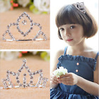 Kids Child Crystal Rhinestone Crown Headband Hairpin Comb Hair Clip Accessroies