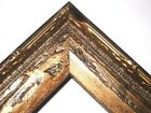 "1.5"" Aged Burnish Gold Antique Rustic Distressed Wood Picture Frame-Square Sizes"