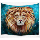 Lion King Face Tapestry 100% Polyester Printing Curtain For Bedroom Decoration