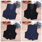 Baby Boys Formal Vest Party Wedding Dress Up Tuxedo Waistcoa