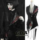 Black and red sleeveless jacket with crosses and lacing Y362 2XL