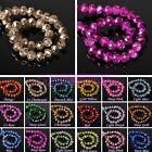 Wholesale Rondelle Faceted Crystal Glass Loose Spacer Beads Lot 4mm 6mm 8mm 10mm