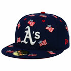 Oakland A's MLB July 4 Independence Day America USA Flags 5950 Hat Cap Athletics on Ebay