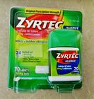 ZYRTEC Allergy Relief 24hr 70 count 10MG TABLETS Fresh Free Ship