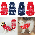 Pet Dog Sweater Snowflake Warm Clothes Puppy Cat Winter Jumper Knit Coat Apparel