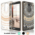 Hybrid PC Crystal Clear TPU Hard Case Cover for LG G Stylo 2 / Stylus 2 & Plus