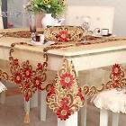 HBZ351 fabric red lace Illustration tablecloth table cloth cover embroidery