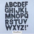 Alphabet Die Cuts - Headliner Font. Sets of 4 in Assorted Colours