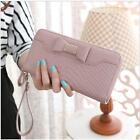 NEW Bow Women Clutch Long Coin Purse Leather Wallet Card Holder Handbag Bags -S