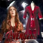 The Avengers Age of Ultron Wanda Maximoff Scarlet Witch Cosplay Costume Outfit