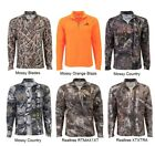 REALTREE MEN'S QUATER - ZIP PERFORMANCE LAYER CAMO LONG SLEEVE SHIRT