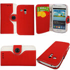 For Samsung Galaxy S3 i9300 / S3 Mini i8190 - Leather Flip Wallet Case Cover