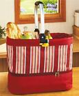 2-in-1 COLLAPSIBLE TOTE HOT/COLD CASSEROLE CARRIER PICNIC BASKET IN 3 PATTERNS
