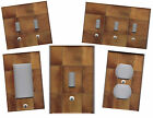 BROWN CERAMIC TILE PRINT HOME WALL DECOR LIGHT SWITCH PLATE
