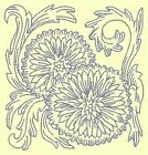 FLORAL REDWORK BLOCKS - DESIGN 2- Anemone Machine Embroidery Singles In 4 sizes