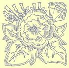 FLORAL REDWORK BLOCKS - DESIGN 9- Anemone Machine Embroidery Singles In 4 sizes