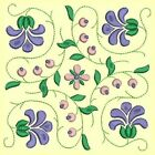 Anemone Quilt Squares 1- DESIGN 4- Anemone Machine Embroidery Singles In 4 Sizes