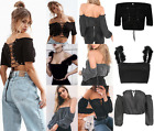 UK Womens Casual OFF SHOULDER Blouse Sexy Tops Summer T-Shirt Beach Blouses