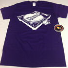 Official Piranha Records Turntable Purple Screen Printed Shirt S-3XL