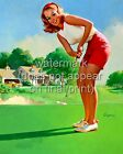 GIL ELVGREN Vintage Pin Up Poster or Canvas HQ Print Sexy Girl Playing Golf