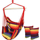 US-STOCK ColorfulHammock Chair Swing Seat Outdoor Garden Patio Yard Hanging Rope